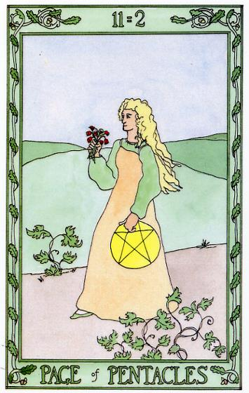 The Page of Pentacles 11=2